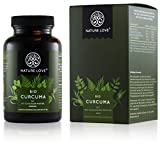 NATURE LOVE Bio Curcuma (240 Kapseln) - Curcumin & Piperin -