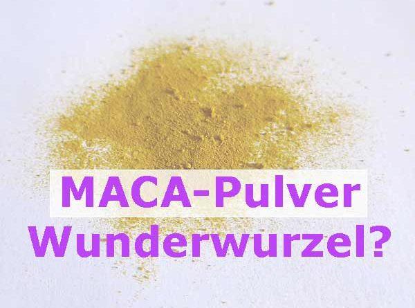 Maca Wirkung Macawurzel Pulver rot gelb schwarz